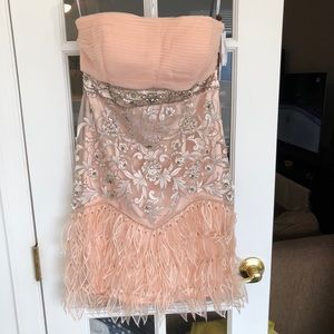 Pretty in Pink Sue Wong Strapless Dress
